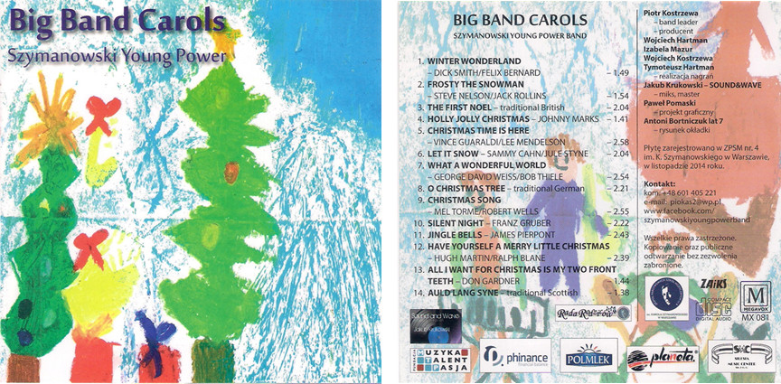 Okładka płyty Szymoanowski Young Power Big Band z 2014 roku